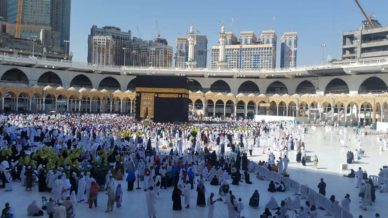 A nice view of Matab inside Haram Makkah