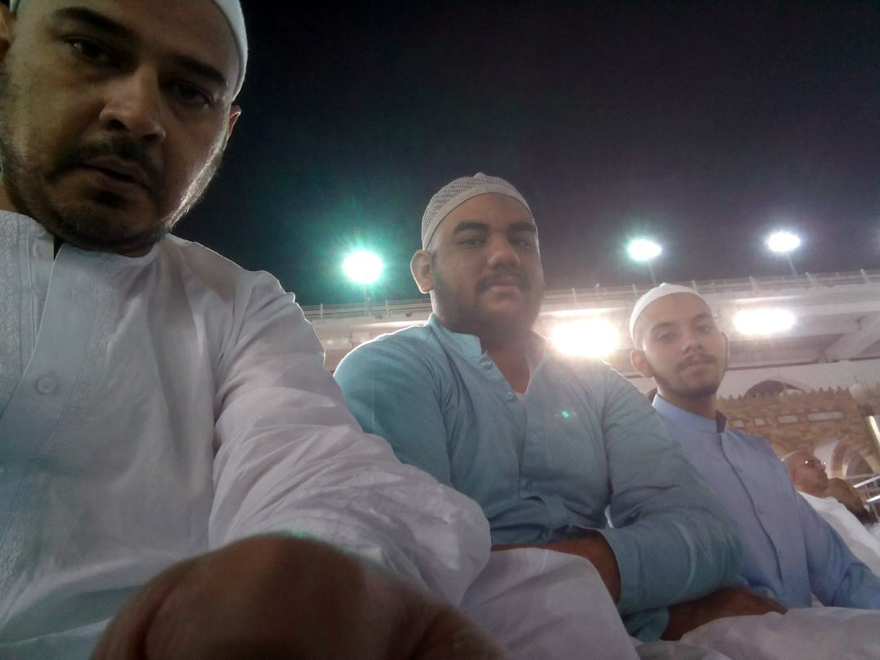 Kamran Khan, Engr. Taha Khan and Obaid Ur Rehman after their first Umra