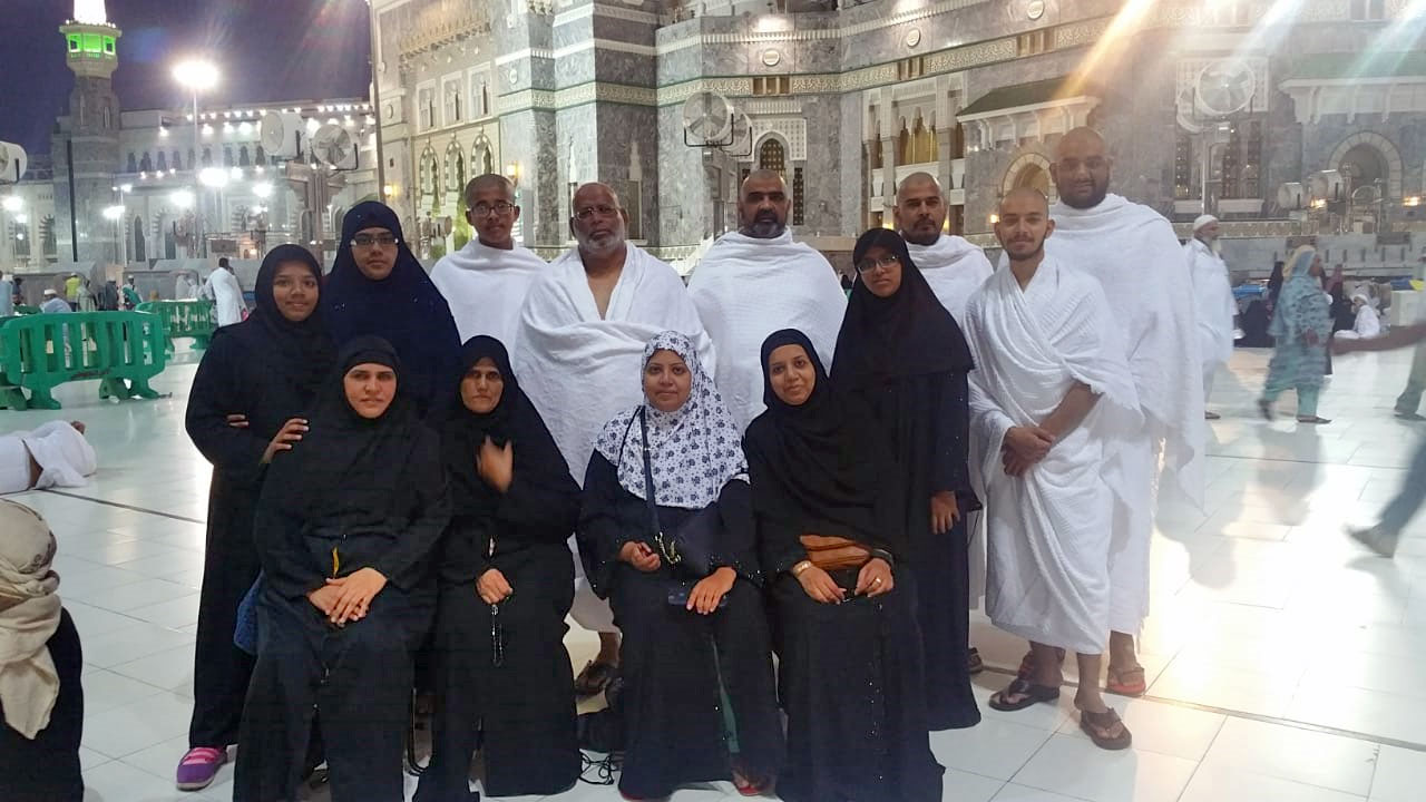 The group members after completing their Ummrah