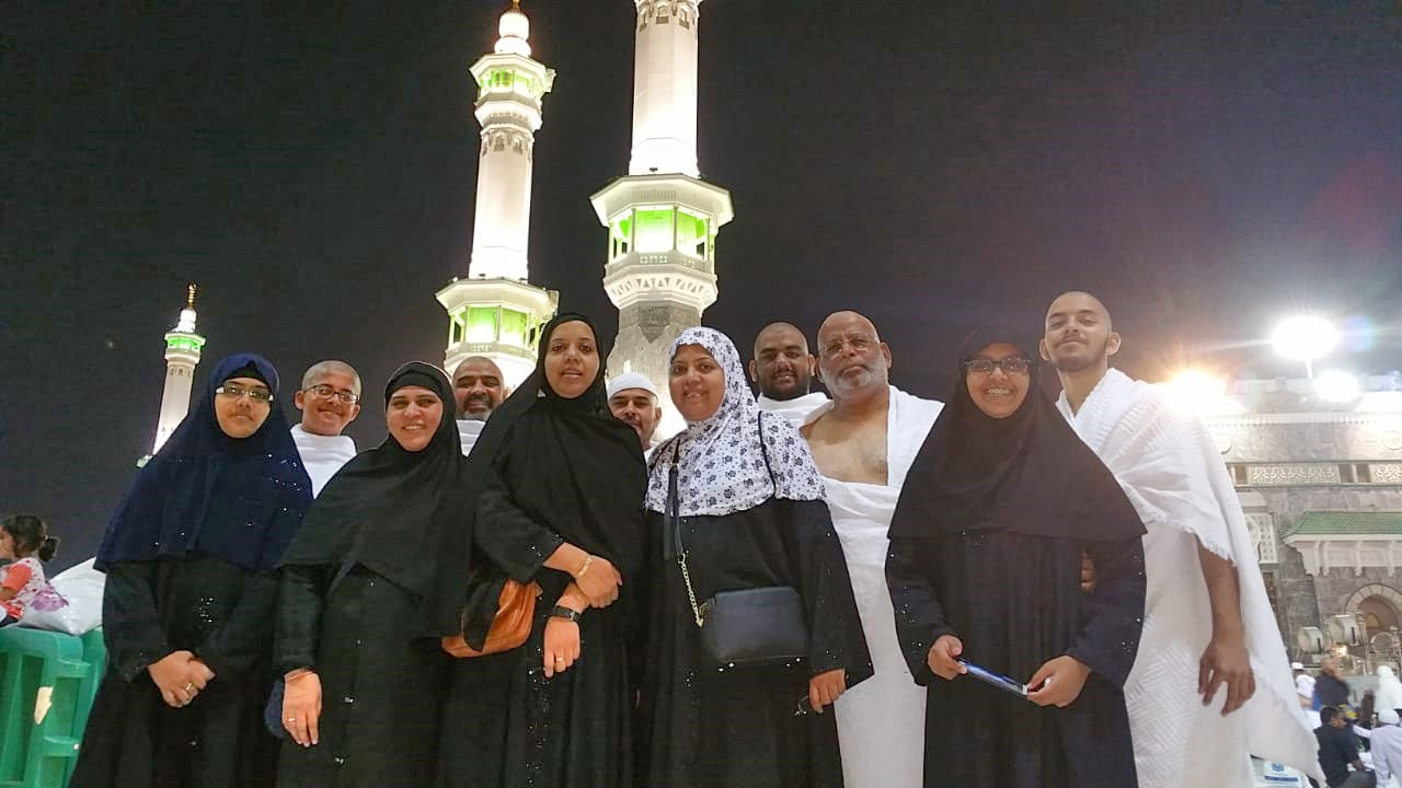 All the group members are very happy after completing their Ummrah
