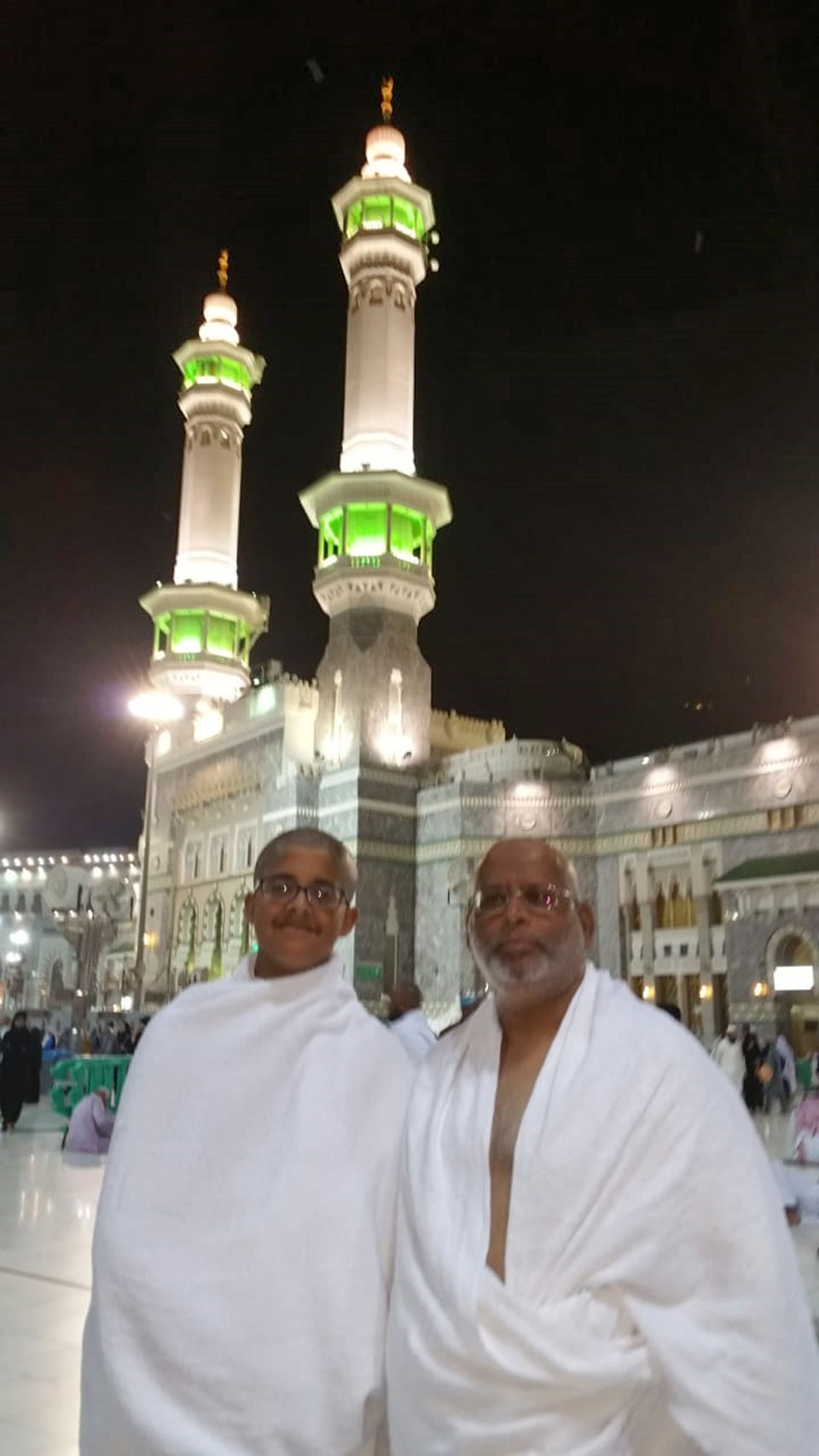 Dr Ata Ur Rehman and Habib Ur Rehman after completing their Taw'aaf
