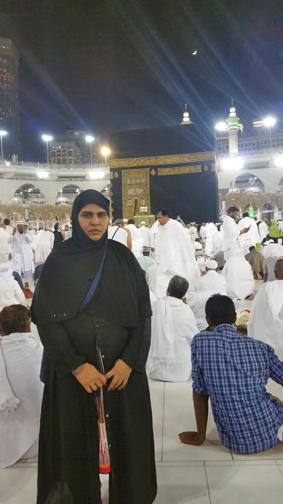 Hina Sultan in Matab after completing her Taw'aaf
