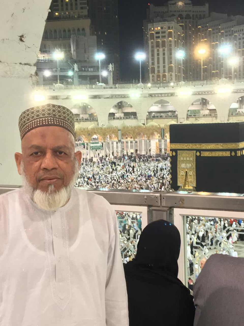 Engr. Iqbal Ahmed Khan at the first floor of Haram-e-Makkah