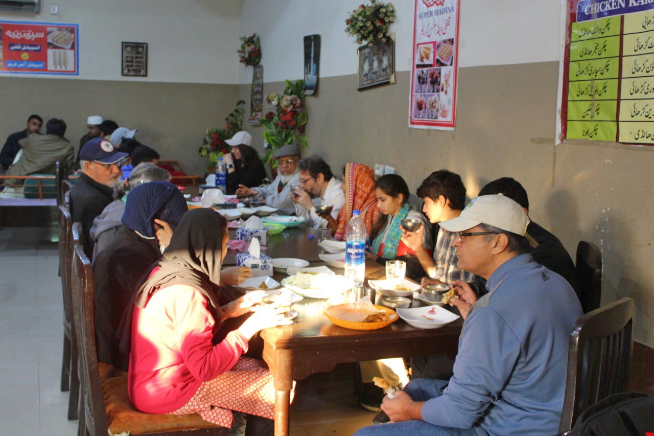 All the members of our group have busy having their breakfast at Super Madina Restaurant