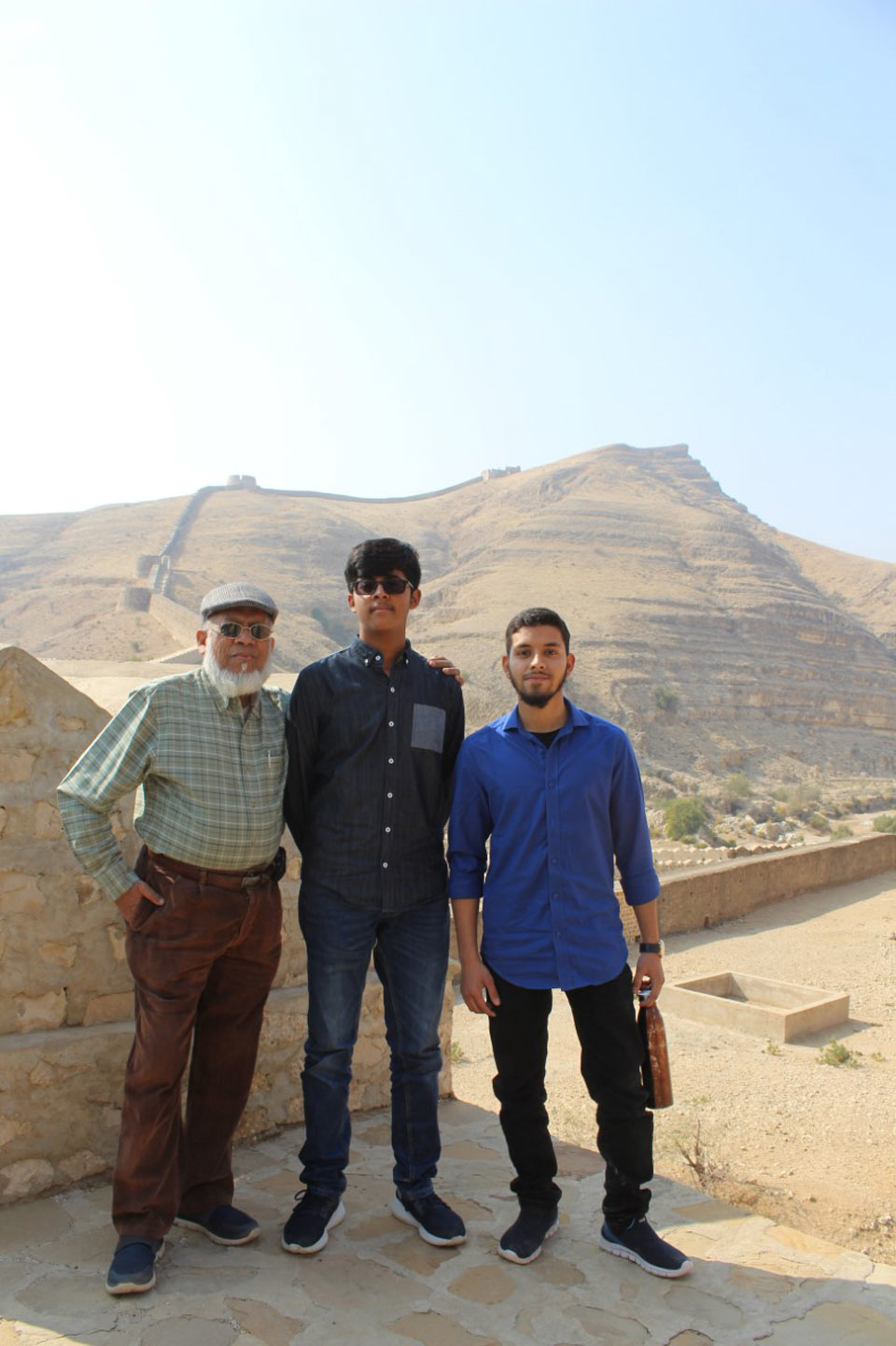 Engr. Iqbal Khan, Habib Ur Rehman and Engr. Obaid Ur Rehman, while going up from the stairs
