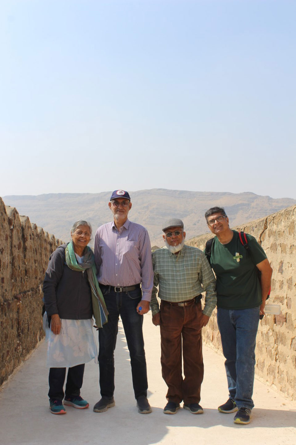 Engr. Iqbal Khan with the Californian family on the walkway of the Miri Kot