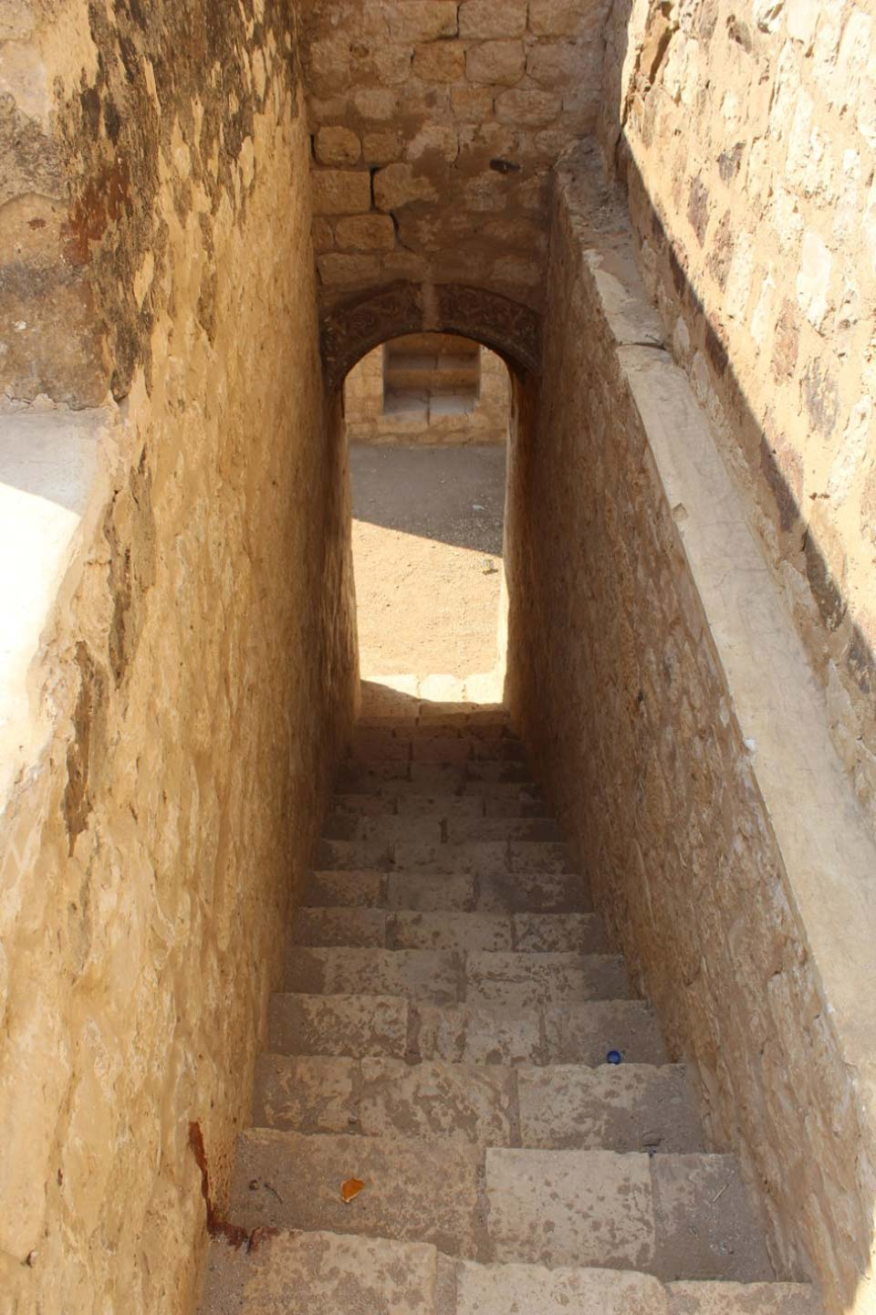 The stairs going to the roof of Miri Kot for the convenience of the visitors