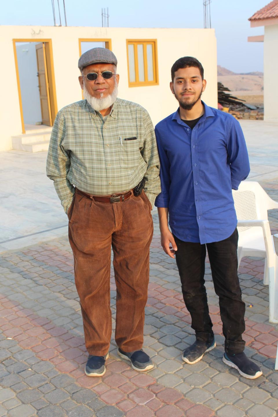 Engr. Iqbal Ahmed Khan and Engr. Obaid Ur Rehman at the Rani Kot Restaurant after the completion of trekking