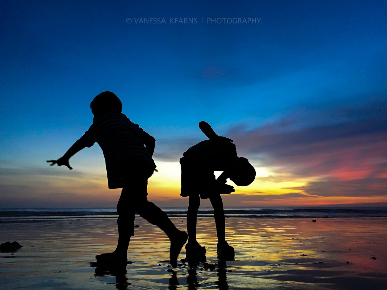 "Members' Favorite (second) and Judges' Selection (third, tie): ""Silhouette and Pirouette"" at Phuket Beach, Thailand by Vanessa Kearns."