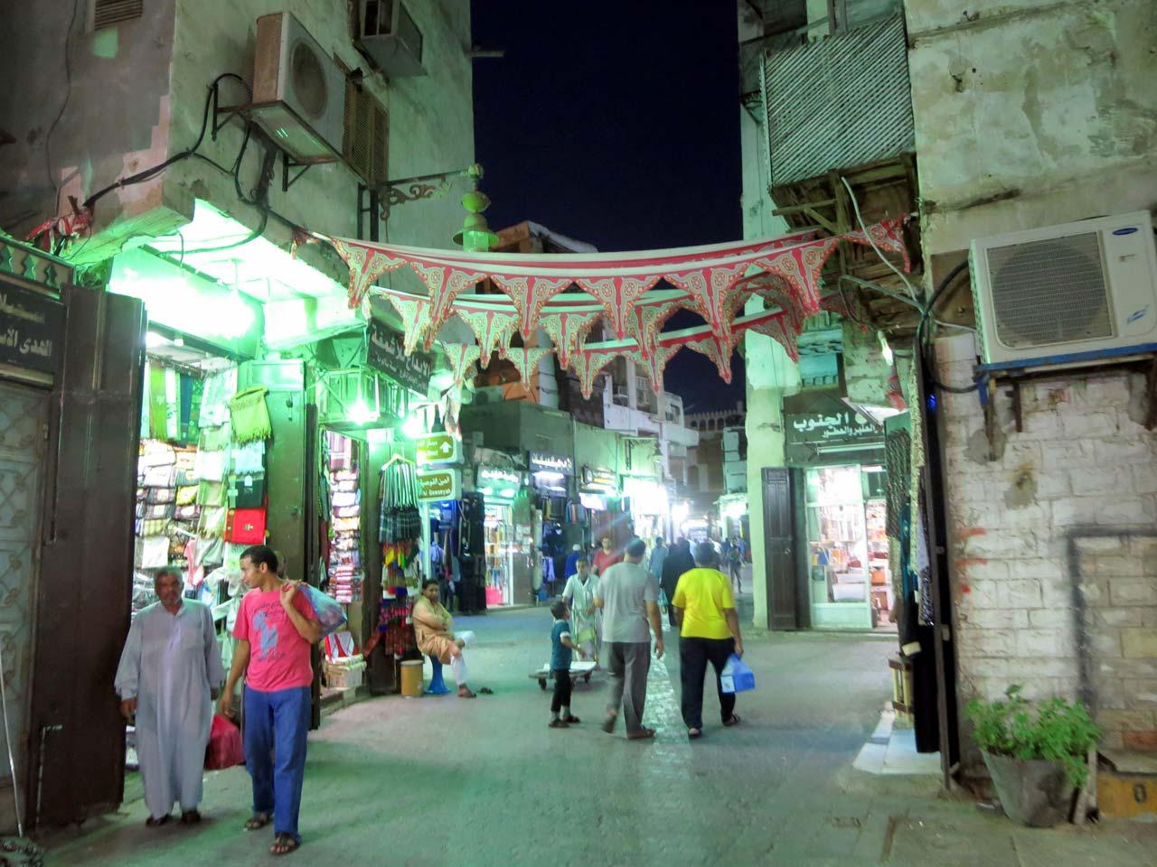 Shopping along the Hajj Route. © Mark Lowey