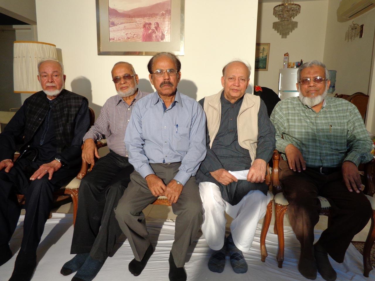 S. Mehmood Ali, Mohammad Abdul Mateen, Shafiq A. Khan, Dr. K. Yousufullah Siddiqui, Engr. Iqbal Ahmed Khan ( Ex-Aramcons )