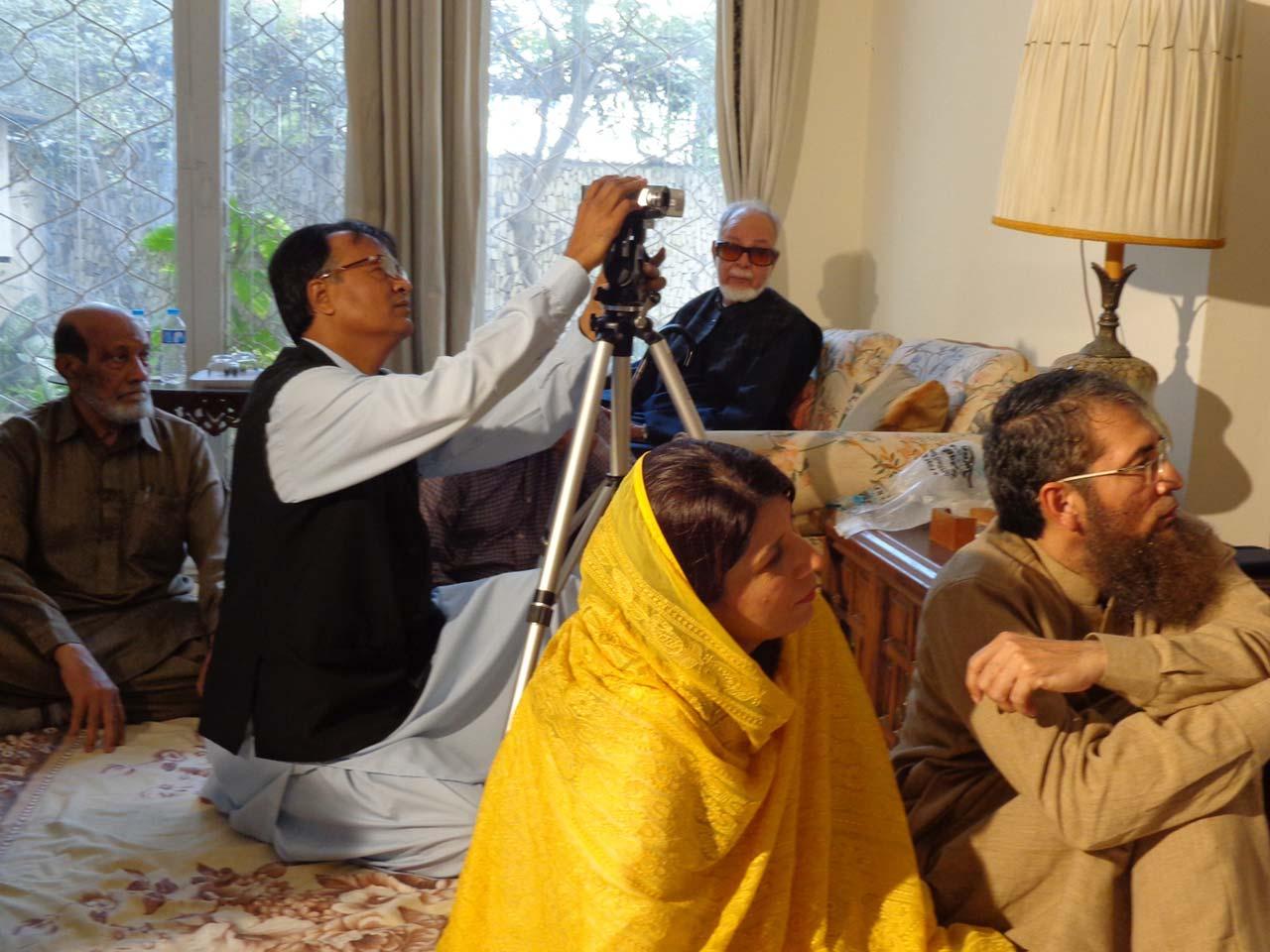 M. Ikhlaq, Wasinuddin Siddiqi and Syed Mehmood Ali, Mr & Mrs. Khalid Hasan