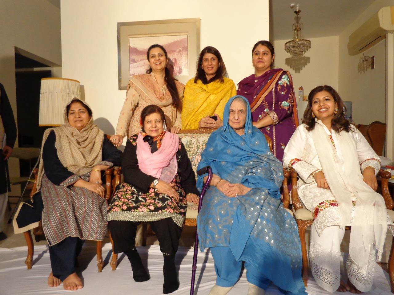 Front: Samina Jawad, Mrs. Mah Noor Siddiqi, Mrs. Zahida Mehmool Ali, Rajia Mushtaq - Back Row: Mrs. Abid Hasan, Mrs. Khalid Hasan, Aiysha Abrar