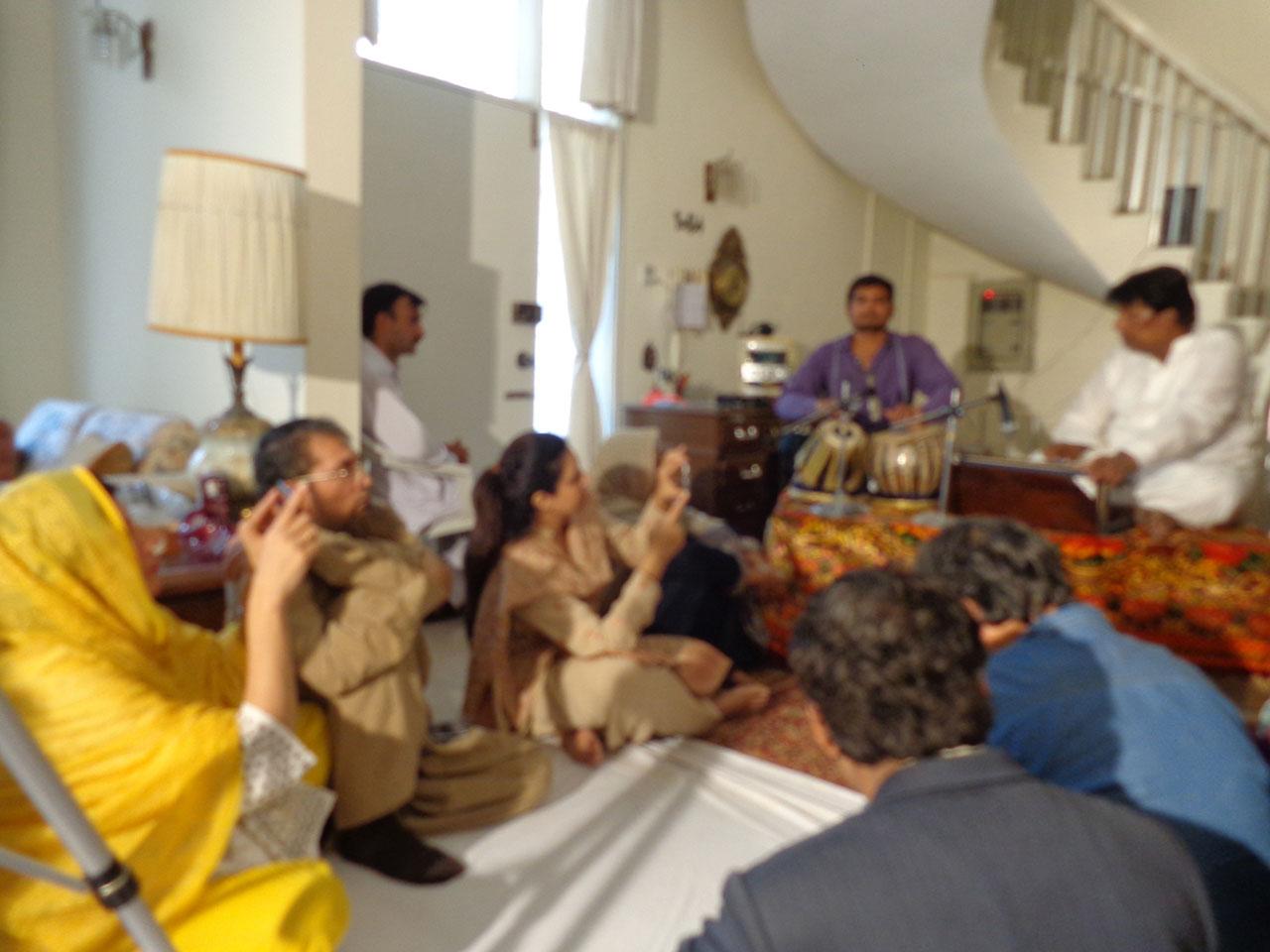 Almas Arif on Tabla and Ustad Yousuf Habib on Harmonium