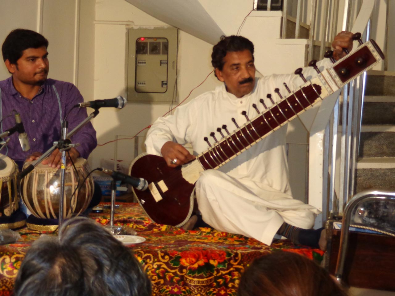 Ustad Saleem Khan, on Sitar, came from Lahore to attend the musical party