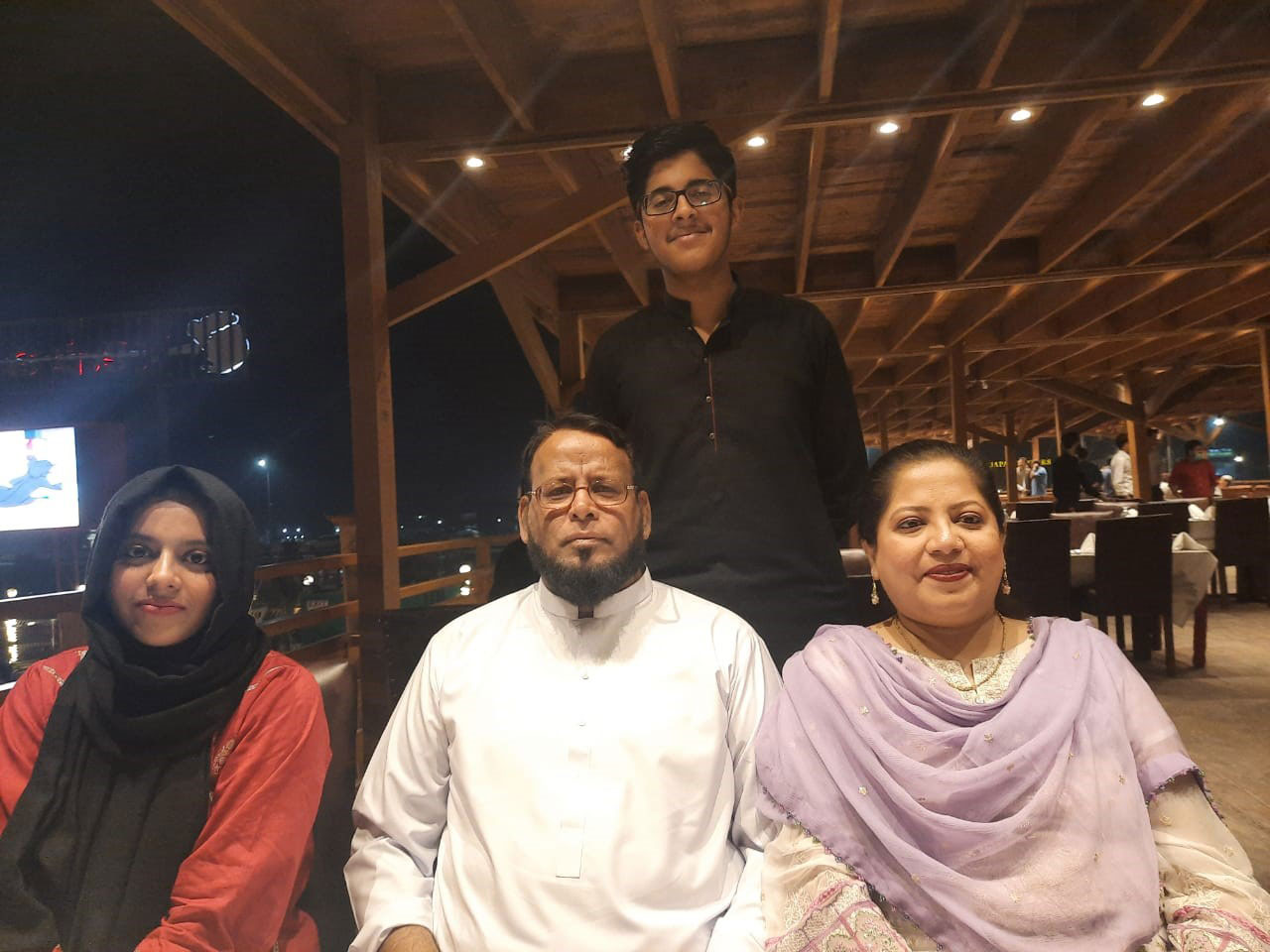 Standing: Habib Ur Rehman | Sitting: Mariam A. Rehman, Dr Ata Ur Rehman, Dr. Kiran A. Rehman