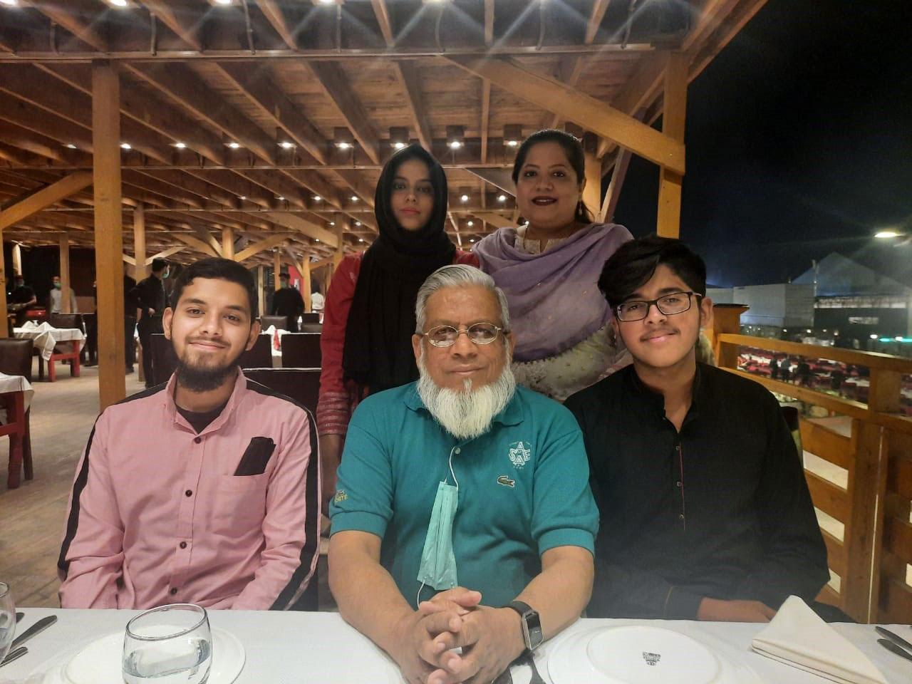 Standing: Mariam A. Rehman, Dr. Kiran A. Rehman | Sitting: Obaid Ur Rehman, Engr. Iqbal A. Khan, Habib Ur Rehman