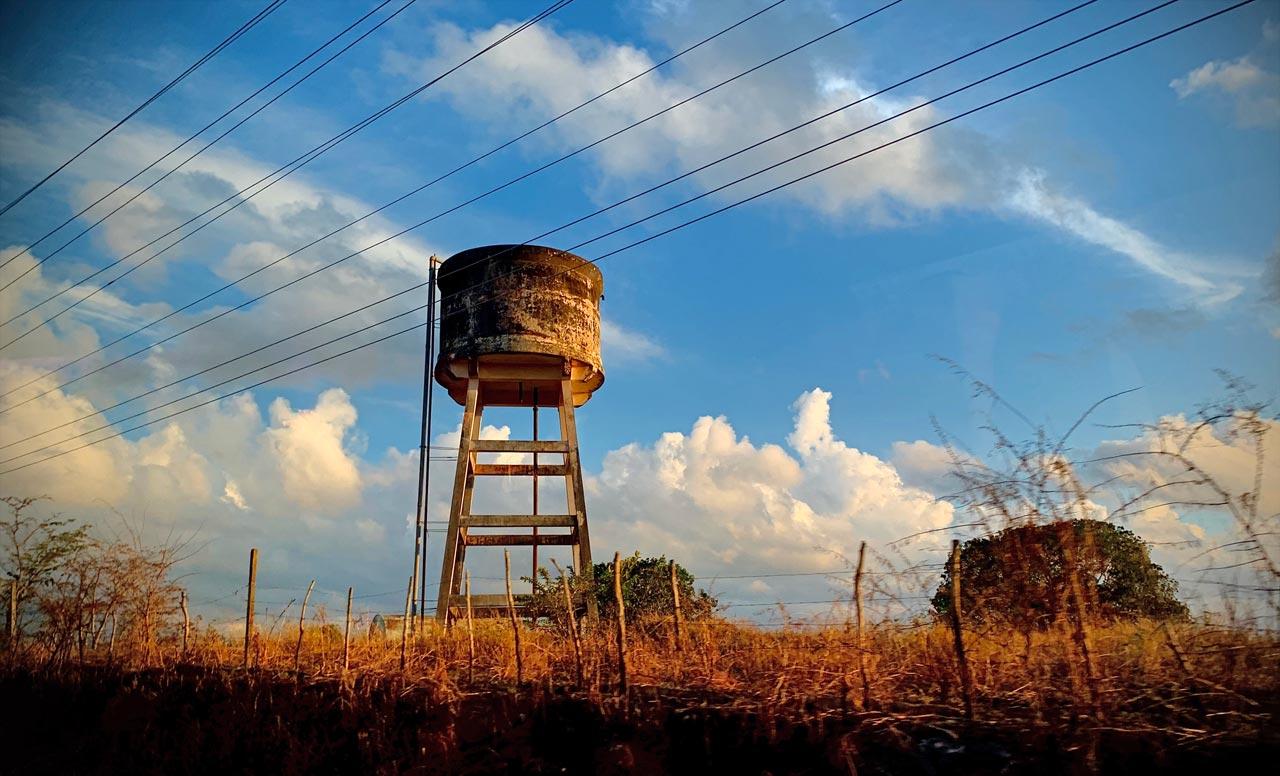 Rural water tank.