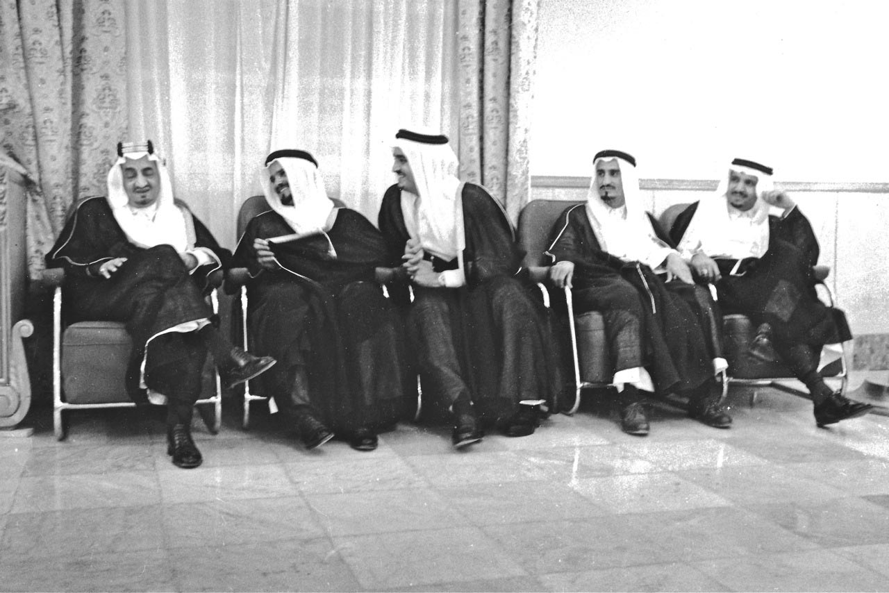 Crown Prince Faisal on left with other future Kings.