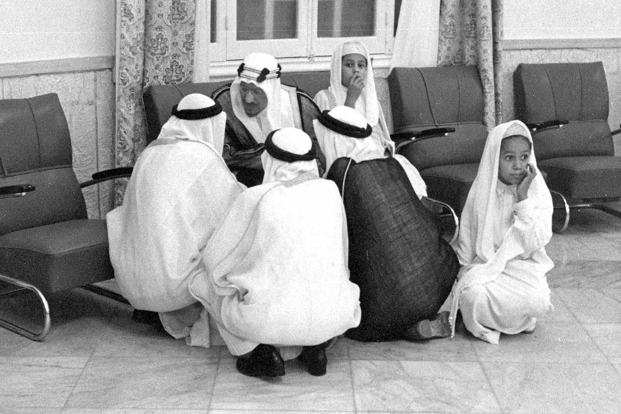King Saud and sons.