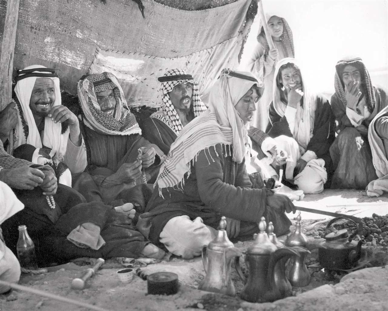 Bedouin camp near Rafha on TAP Line.