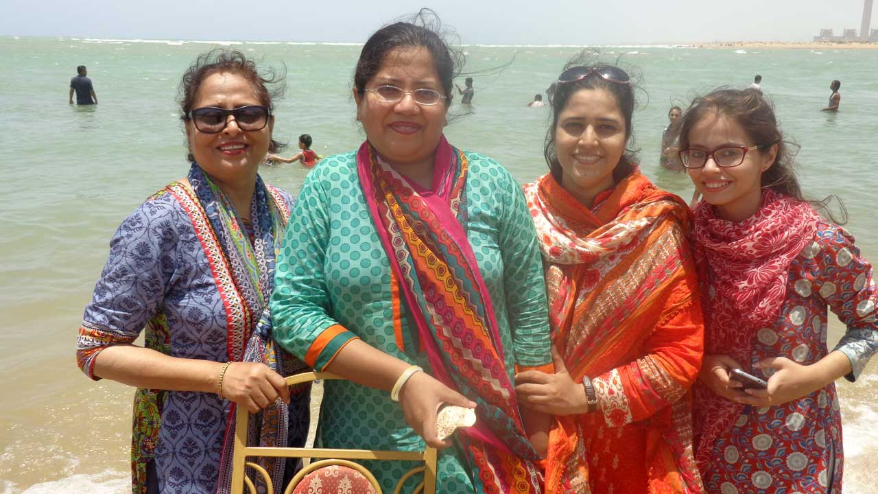 Mrs. Nasreen, Dr. Kiran A. Rehman, Ambreen and her cousin
