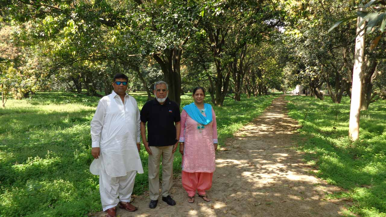 Imran Khan, Engr. Iqbal Khan and Anjum Choudhary in the Mango Orchid in Kithore
