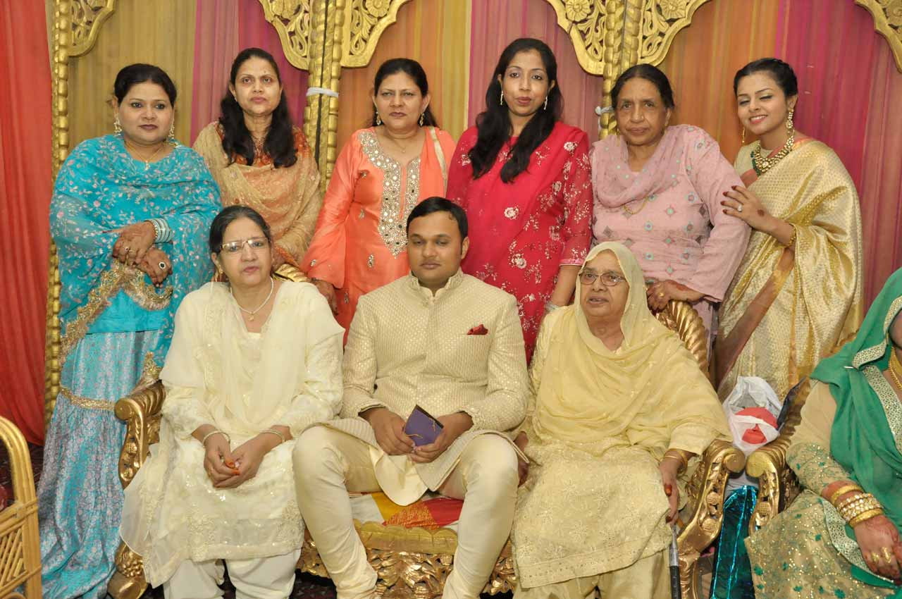 Imran Pervez with his Puppo, Dadi and other guests on the wedding reception