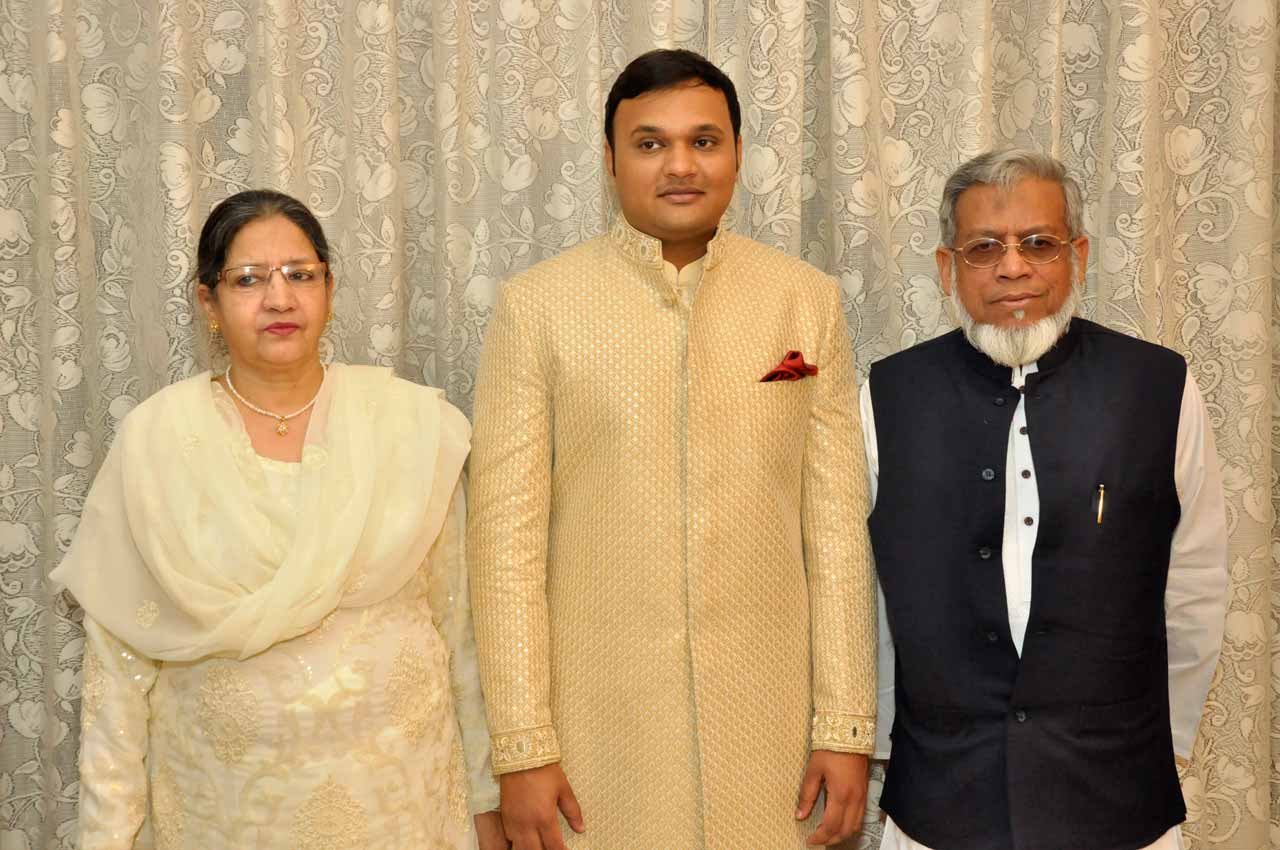 Mrs. Zohra Iqbal, Imran Pervez, Engr. Iqbal Ahmed Khan