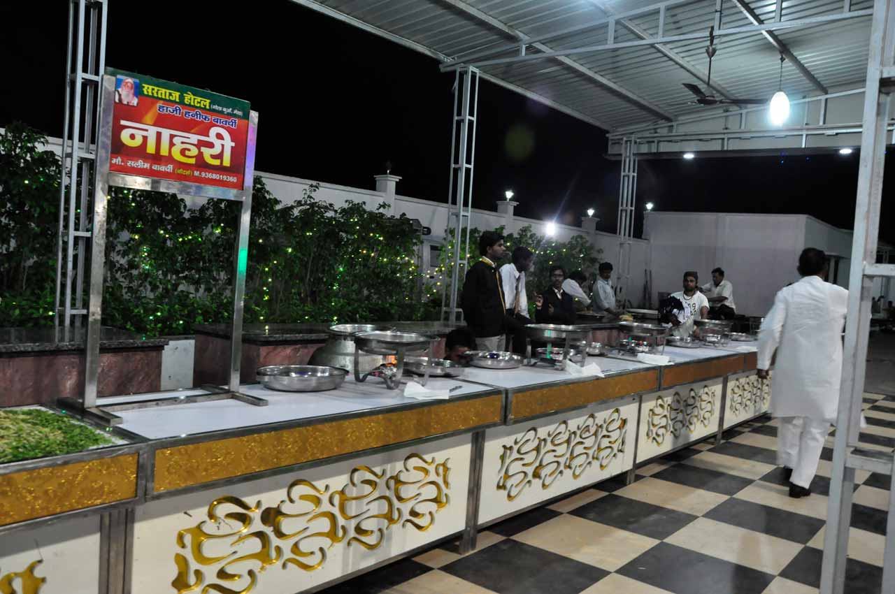 The food counters at the Valima reception