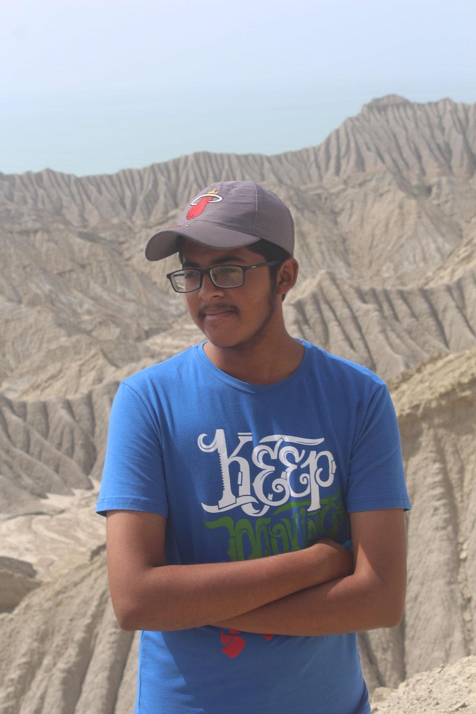 Habib Ur Rehman at Kund Malir enjoying the nice wind at an elevation.