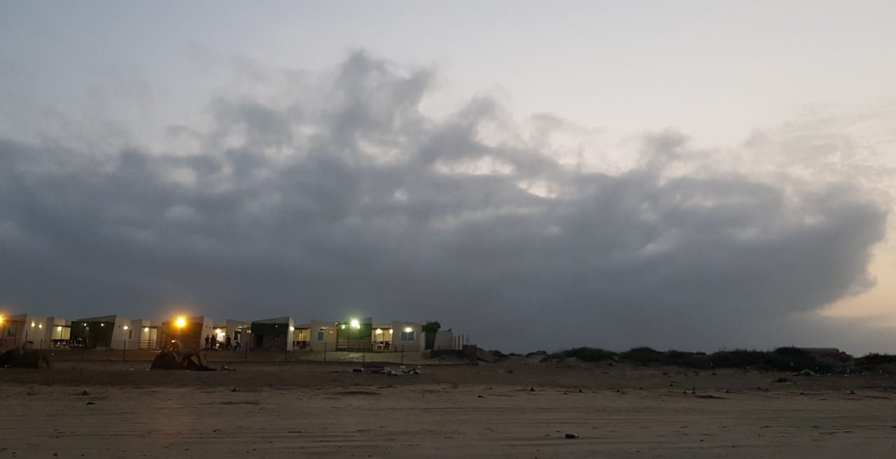 A nice view of Ormara Resort from a distance. The weather is cloudy and very nice breeze.