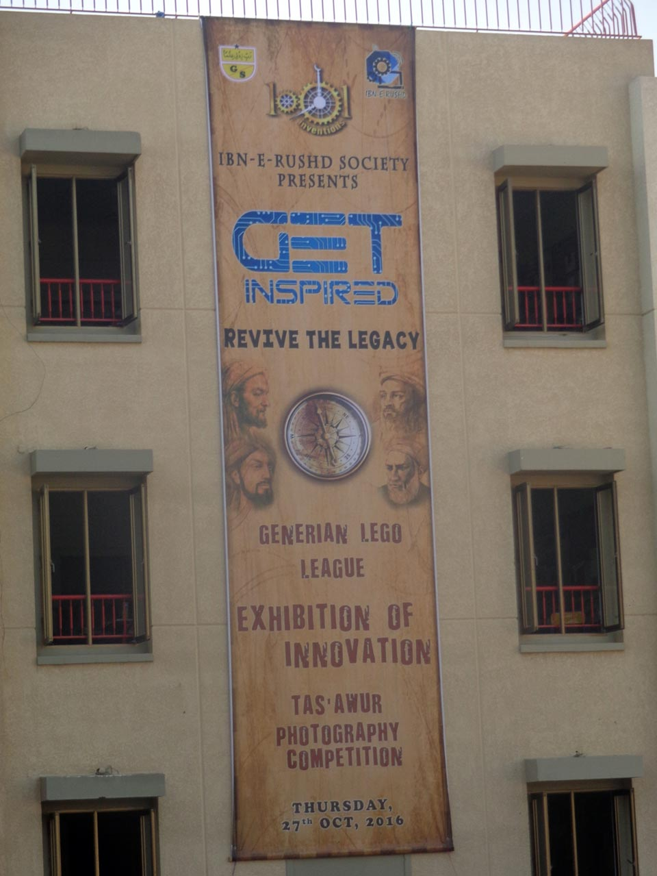 The Generian Lego League Exhibition Banner