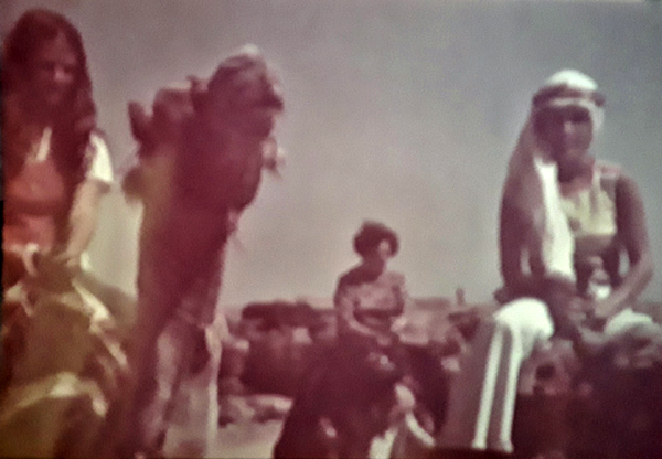 Gladys de Barcza on a 1970s Camel Ride. Gladys is the spouse of George de Barcza, who worked for Engineering Services and Project Management in Ras Tanura from 1973 to 1980.