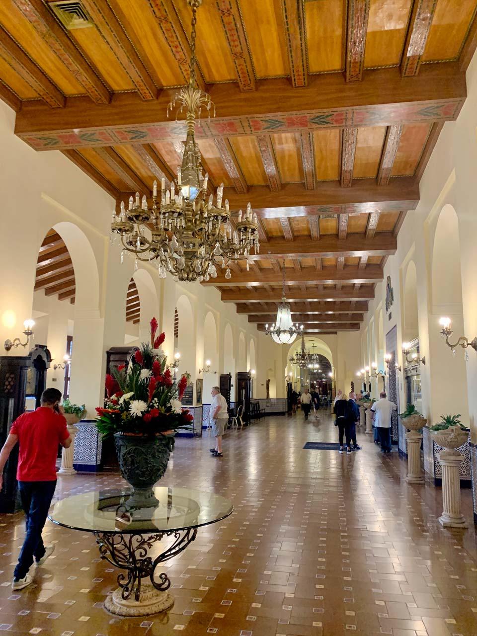 Hotel Nacional lobby.