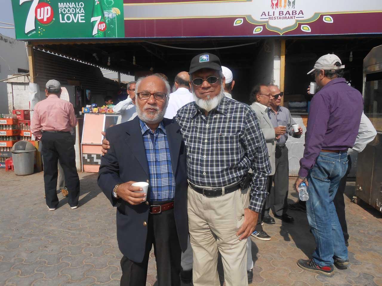 Engr. Gulzar Memon and Engr. Iqbal Ahmed Khan @ Ali Baba CNG Station