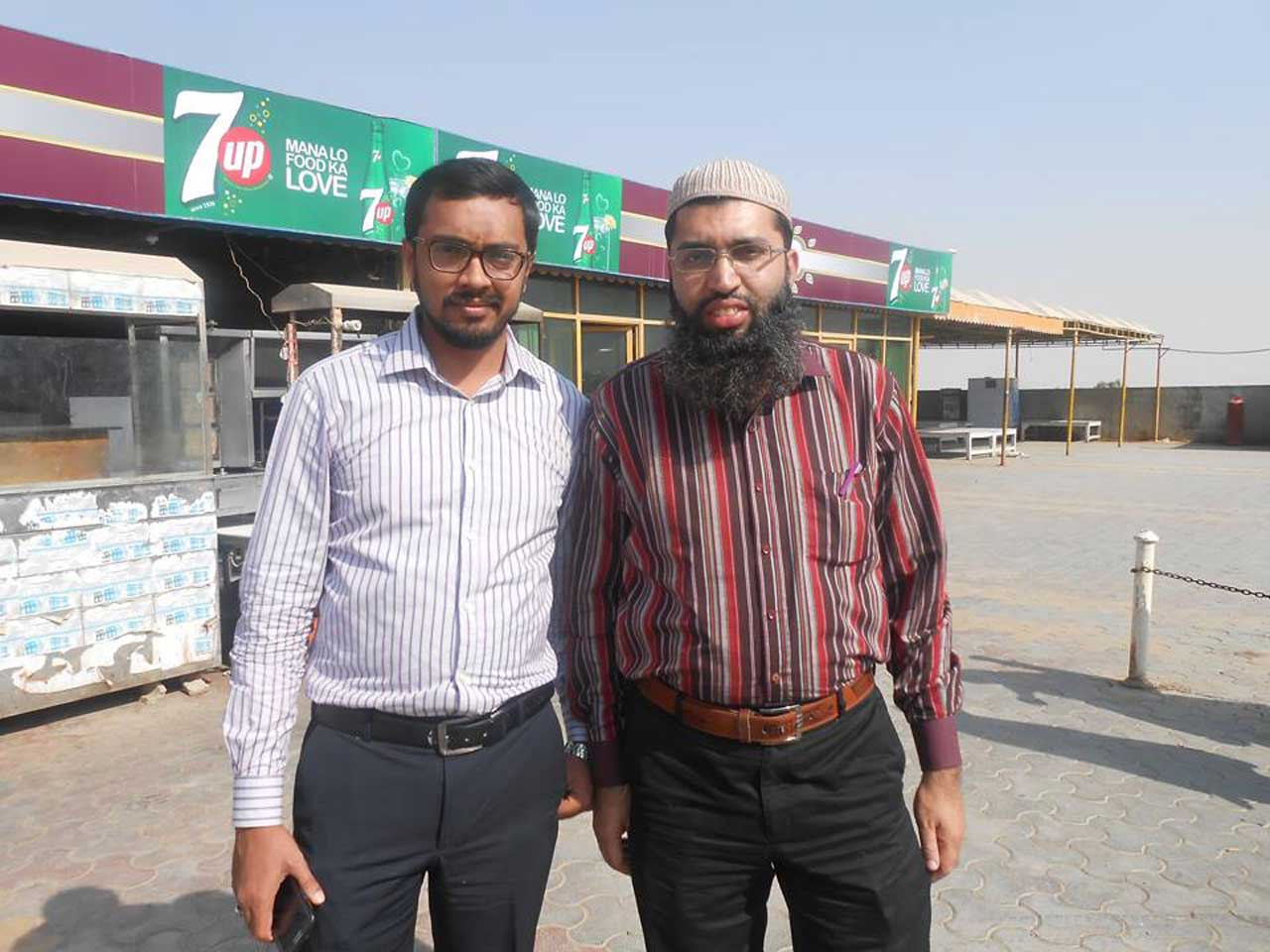 Engr. Asad Bhatti and Engr. Muhammad Zahid Zia at Ali Baba CNG Station