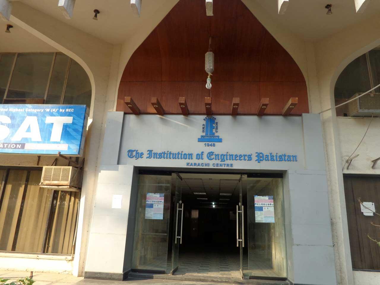 Entrance to IEP Building in Karachi