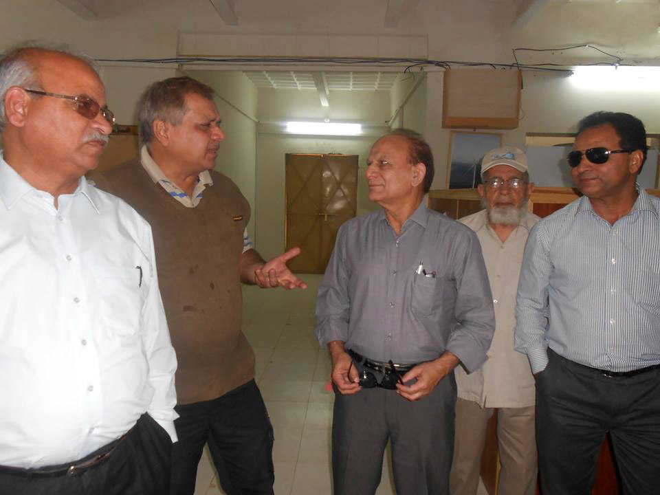 Engr. Mohammad Idrees, Engr. Maqsood Ahmed, Engr.Meraj A. Khawaja, Engr. Rais Siddiqi, Engr. Khan m. Mirani