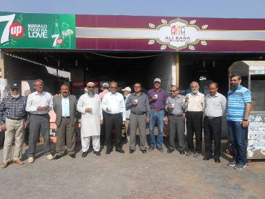 IEP Members at Ali Baba CNG Station with Engr. Jamsheed Rizvi and Engr. Yousuf Jilani