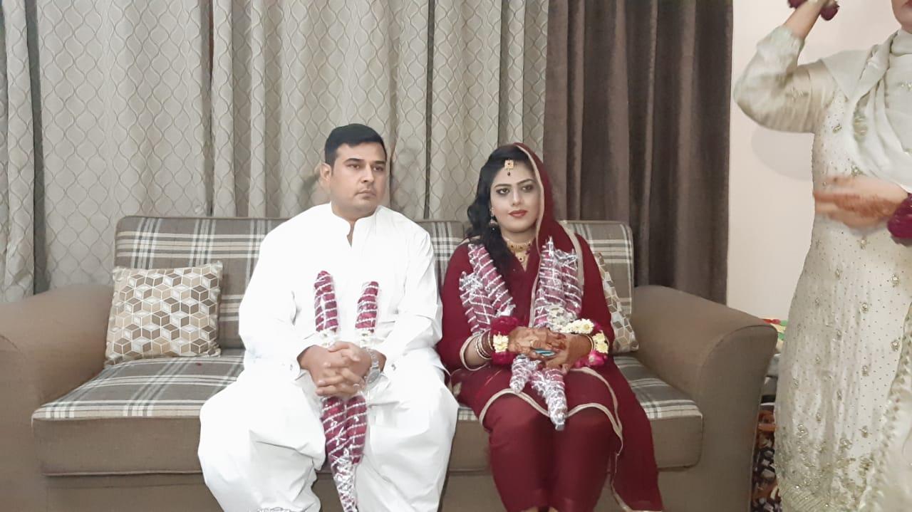 Kamran and Bushra at their Engagement Ceremony