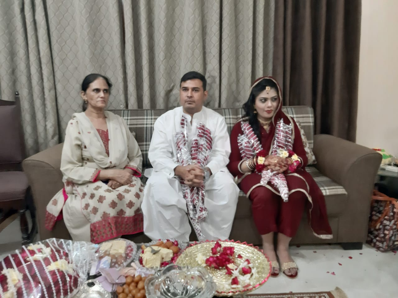 Mrs. Rudaba Irshad with Kamran and Bushra