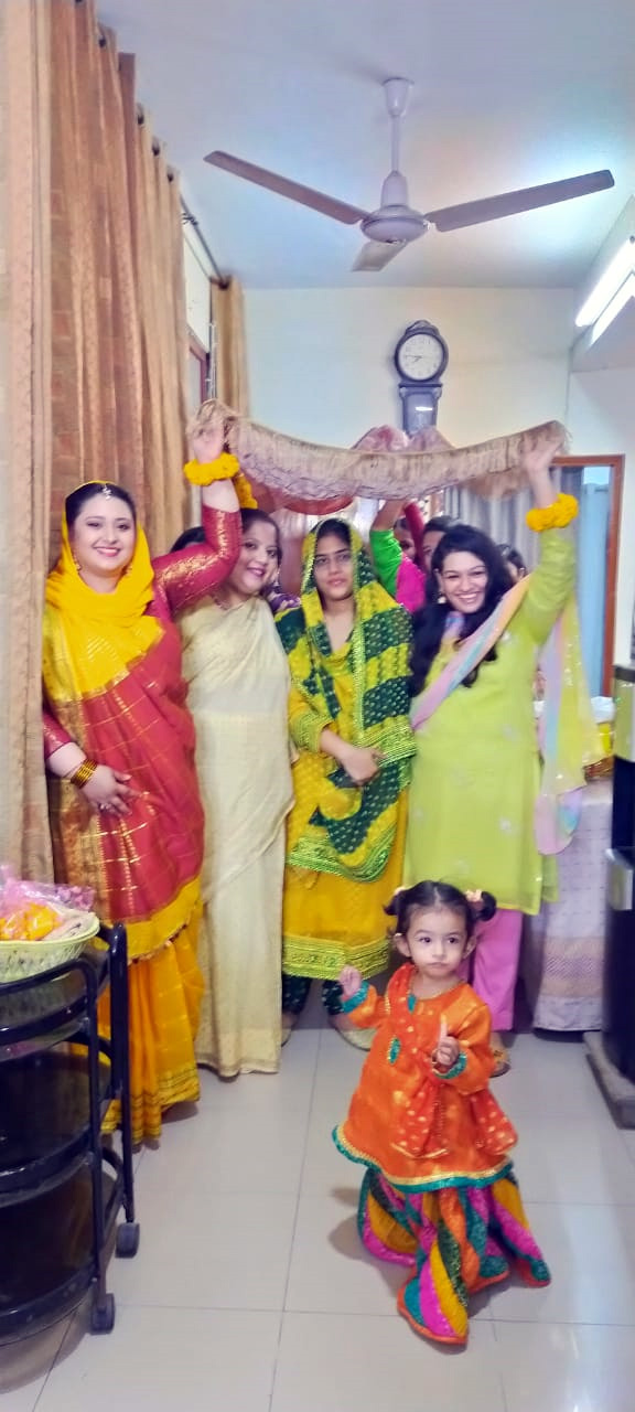 The entrance of Bride at the Mayoon/Mehndi Function –under the protection of her cousins