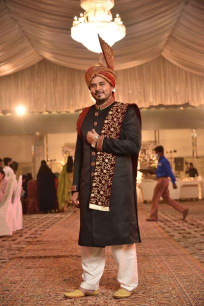 The Groom ,  Kamran Ahmed Khan in his Wedding Dress.