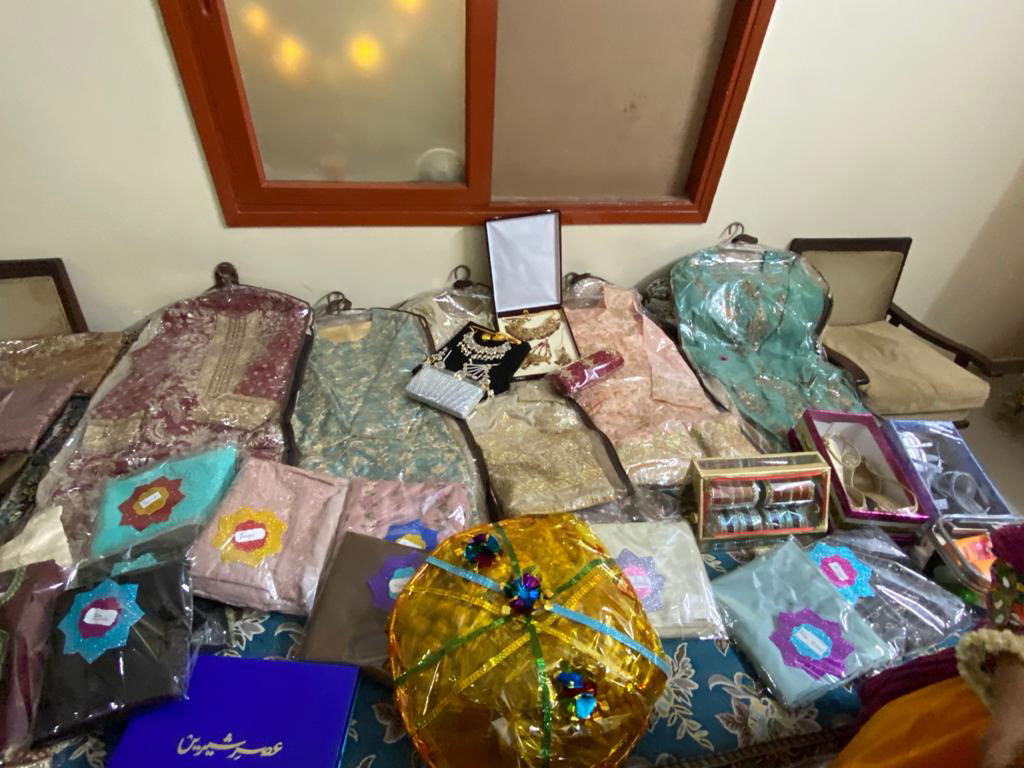 Cloths of Bari Function, brought by the Groom's family