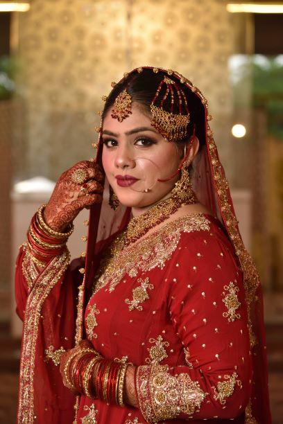The Bride Bushra Irshad in her Wedding Dress