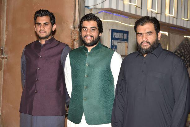 A nice click of the three brothers of the bride Bushra,  Bilal, Usama and Taha
