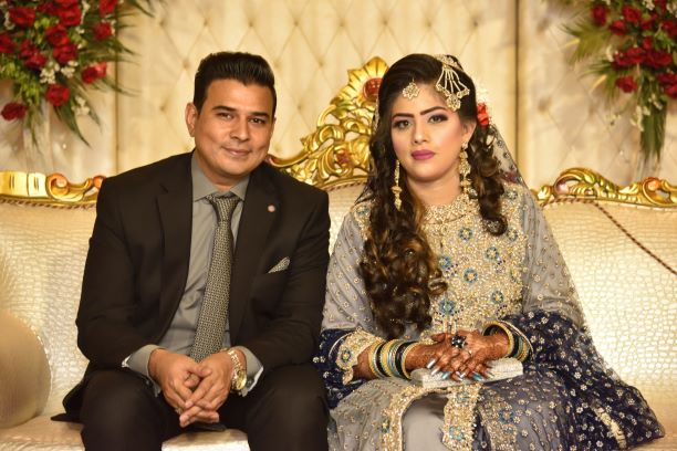 The wedding couple at their Valima Reception