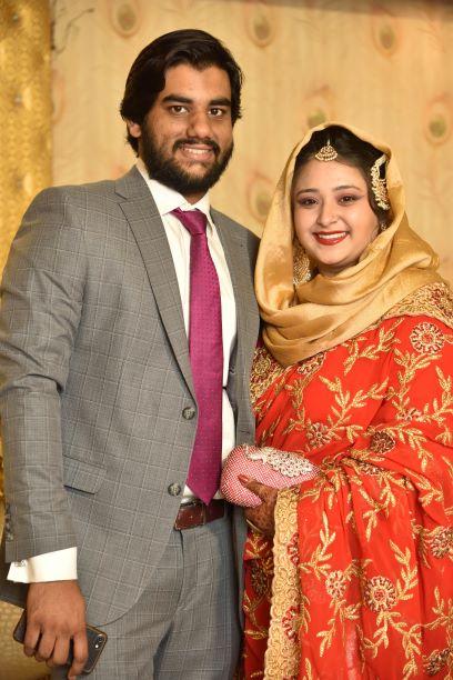 The stunning newlywed couple Engr. Taha A. Khan and Samia Khan