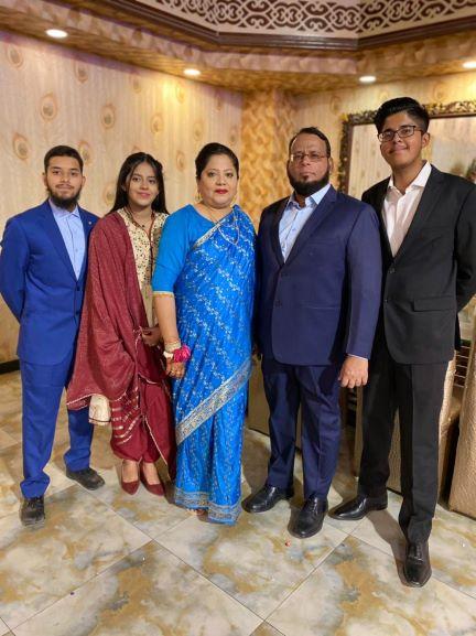 A group of Dr. Ata Ur Rehman/Dr Kiran A. Rehman with their children, Obaid, Habib and Mariam
